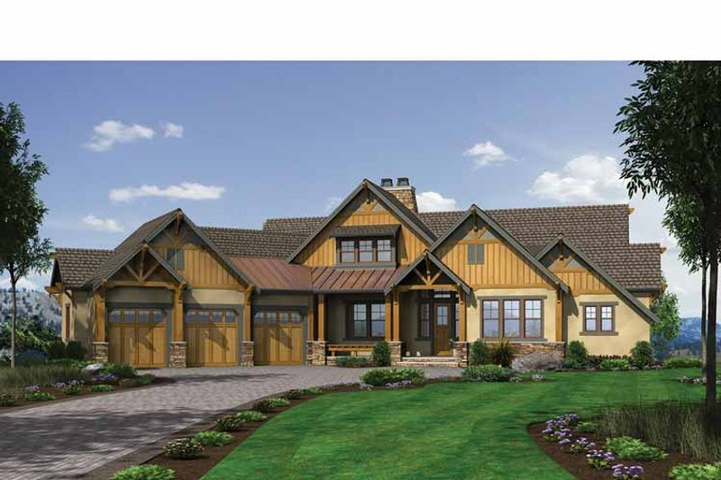 Craftsman Exterior - Front Elevation Plan #132-560 - Houseplans.com