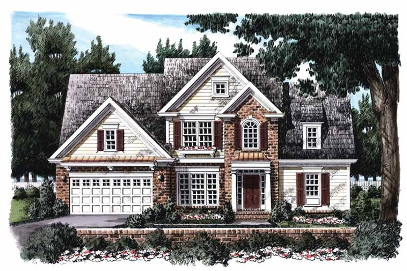 Colonial Exterior - Front Elevation Plan #927-382