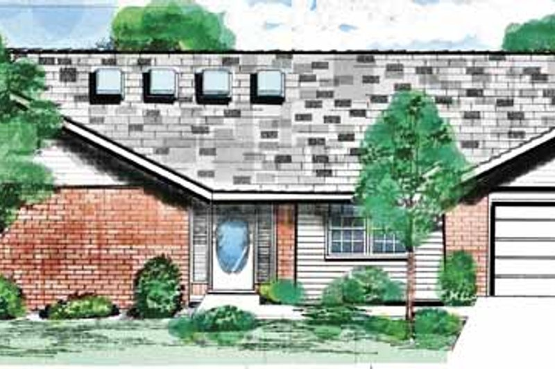 Ranch Exterior - Front Elevation Plan #52-276
