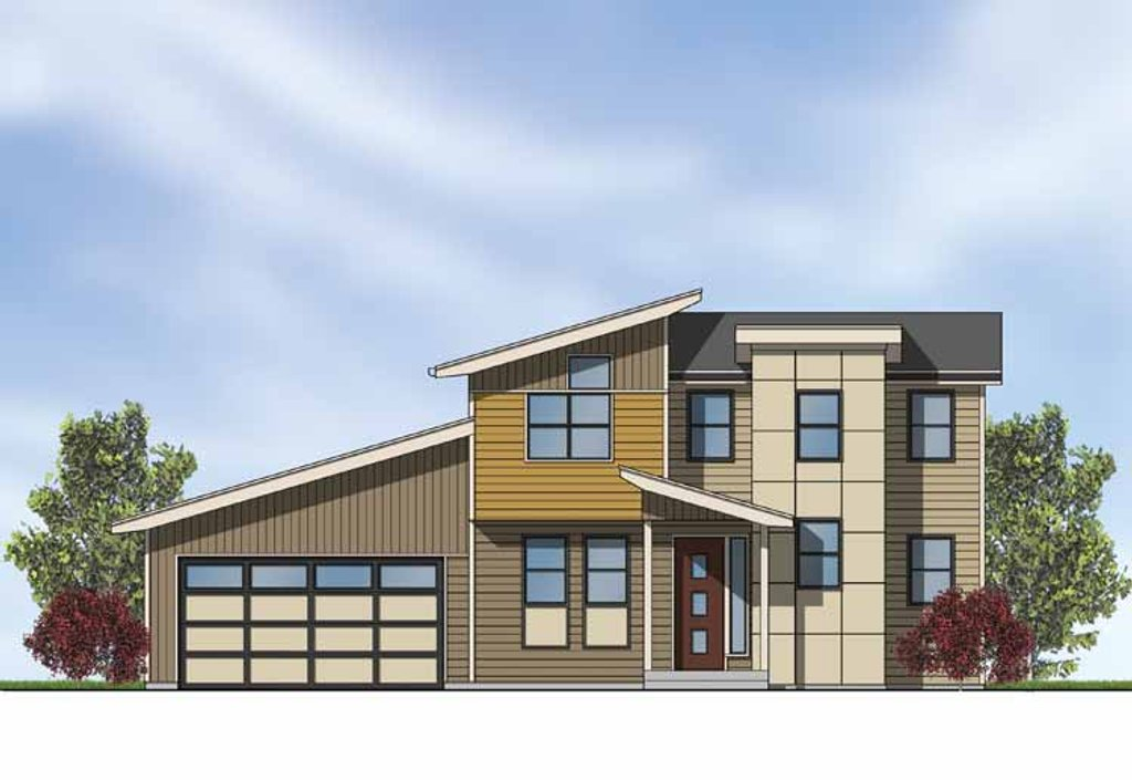 Contemporary Exterior - Front Elevation Plan #569-4