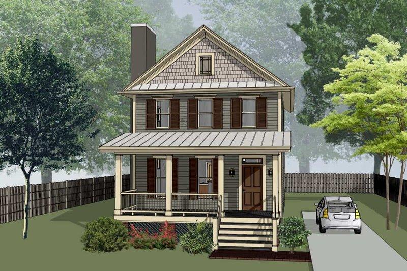 House Plan Design - Craftsman Exterior - Front Elevation Plan #79-313