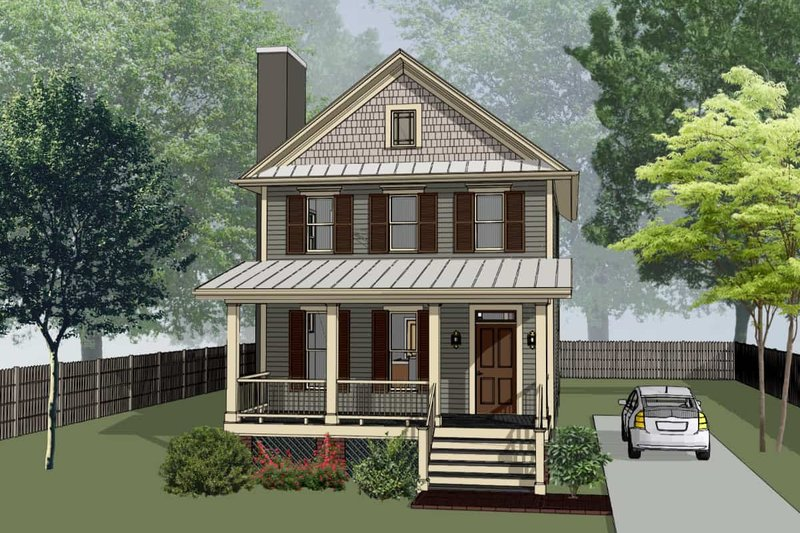 Home Plan - Craftsman Exterior - Front Elevation Plan #79-313