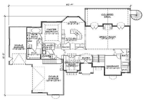 European Floor Plan - Main Floor Plan Plan #5-288