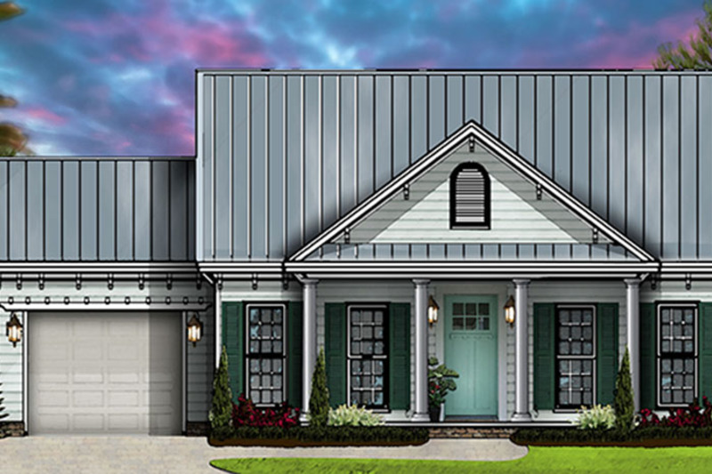 Country Exterior - Front Elevation Plan #977-2 - Houseplans.com