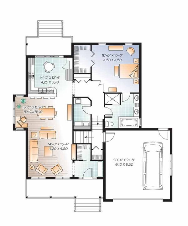 Country Floor Plan - Main Floor Plan Plan #23-2536