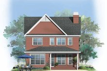 House Plan Design - Traditional Exterior - Rear Elevation Plan #929-748