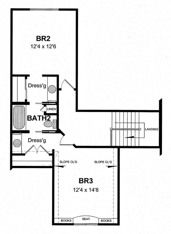 House Plan Design - Craftsman Floor Plan - Upper Floor Plan #316-282