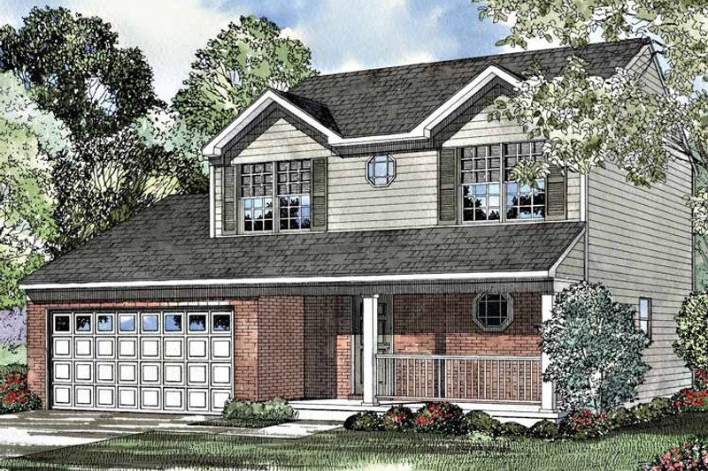 Country Exterior - Front Elevation Plan #17-3191 - Houseplans.com