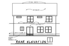 House Plan Design - Country Exterior - Rear Elevation Plan #20-2293