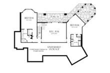 Craftsman Floor Plan - Lower Floor Plan Plan #929-932