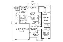 Cottage Floor Plan - Main Floor Plan Plan #513-2079