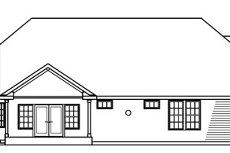 Exterior - Rear Elevation Plan #124-716 - Houseplans.com