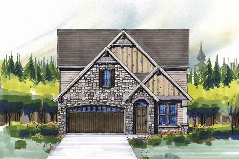 Country Exterior - Front Elevation Plan #509-312