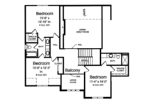 Traditional Floor Plan - Upper Floor Plan Plan #46-861