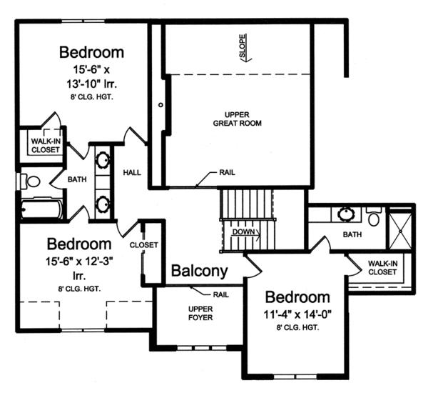 House Plan Design - Traditional Floor Plan - Upper Floor Plan #46-861