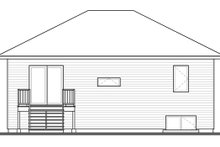 House Plan Design - Contemporary Exterior - Rear Elevation Plan #23-2578