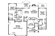 Craftsman Style House Plan - 4 Beds 3.5 Baths 2963 Sq/Ft Plan #124-819 Floor Plan - Main Floor Plan
