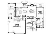 Craftsman Style House Plan - 4 Beds 3.5 Baths 2963 Sq/Ft Plan #124-819 Floor Plan - Main Floor