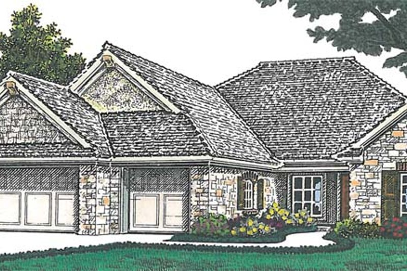 Dream House Plan - Traditional Exterior - Front Elevation Plan #310-1262