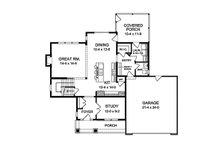 Traditional Floor Plan - Main Floor Plan Plan #1010-118