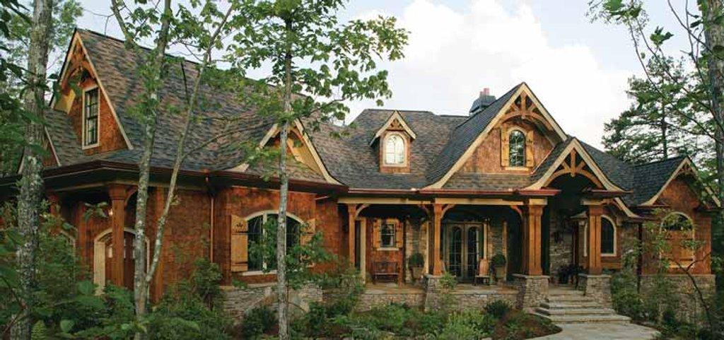 Craftsman Exterior Front Elevation Plan 54 338