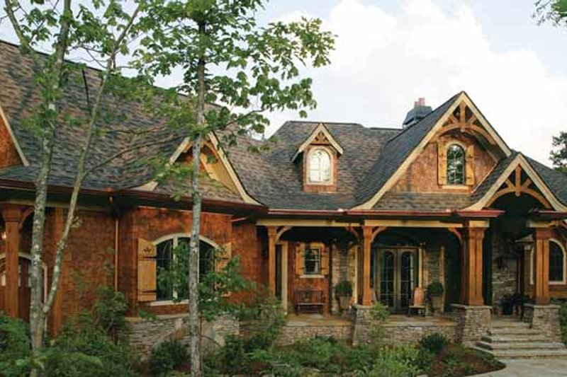Home Plan - Craftsman Exterior - Front Elevation Plan #54-338