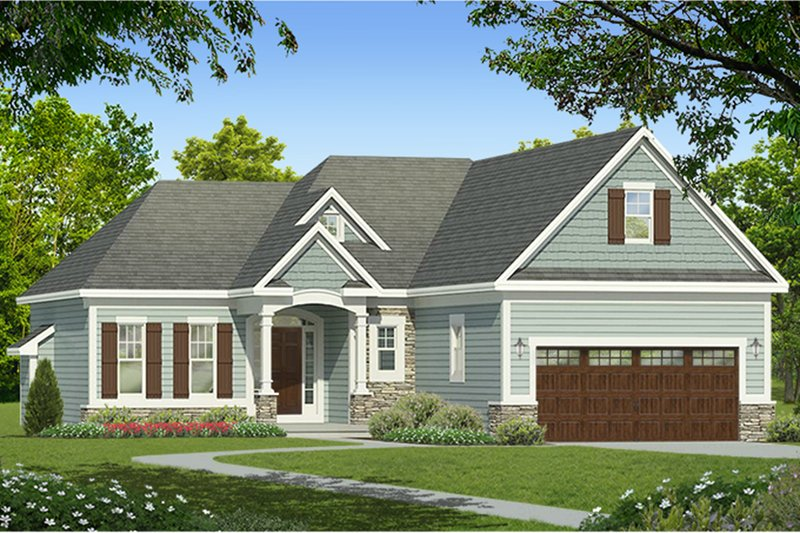 Architectural House Design - Ranch Exterior - Front Elevation Plan #1010-179