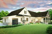 Farmhouse Style House Plan - 3 Beds 2 Baths 2252 Sq/Ft Plan #406-9653 Exterior - Rear Elevation