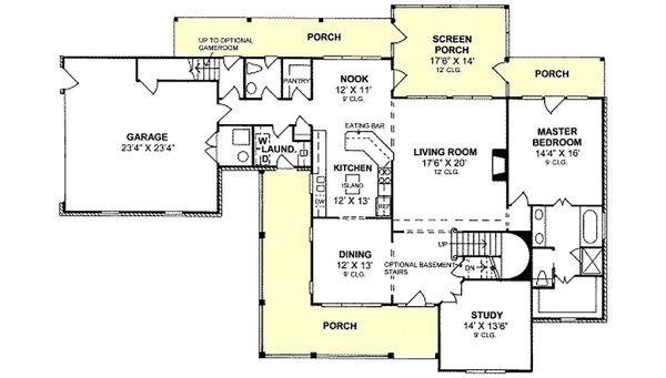 Farmhouse Floor Plan - Main Floor Plan Plan #20-239
