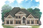 European Style House Plan - 4 Beds 5 Baths 4550 Sq/Ft Plan #119-236 Exterior - Front Elevation
