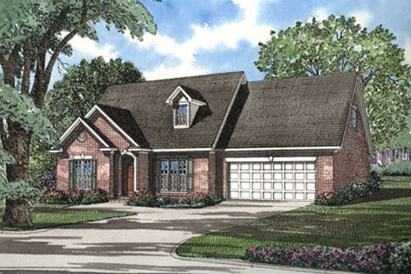 Architectural House Design - Traditional Exterior - Front Elevation Plan #17-285
