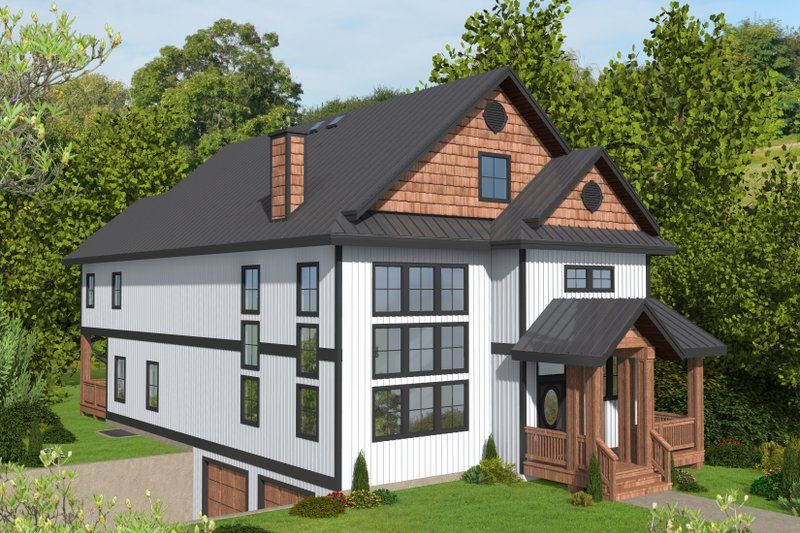 Traditional Style House Plan - 5 Beds 5 Baths 4920 Sq/Ft Plan #117-912 Exterior - Front Elevation