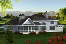 Dream House Plan - Traditional Exterior - Other Elevation Plan #70-1147