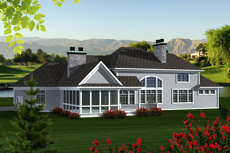 Traditional Exterior - Other Elevation Plan #70-1147 - Houseplans.com