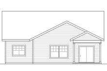 Bungalow Exterior - Rear Elevation Plan #124-1028