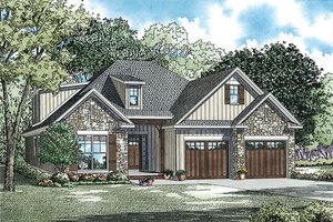 Traditional Exterior - Front Elevation Plan #17-2465