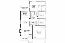 Traditional Floor Plan - Main Floor Plan Plan #124-912