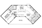 Traditional Style House Plan - 1 Beds 1 Baths 768 Sq/Ft Plan #18-1050 Floor Plan - Main Floor