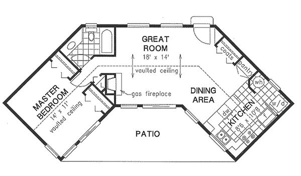 Traditional Floor Plan - Main Floor Plan Plan #18-1050