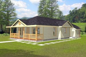 Country Exterior - Front Elevation Plan #117-143