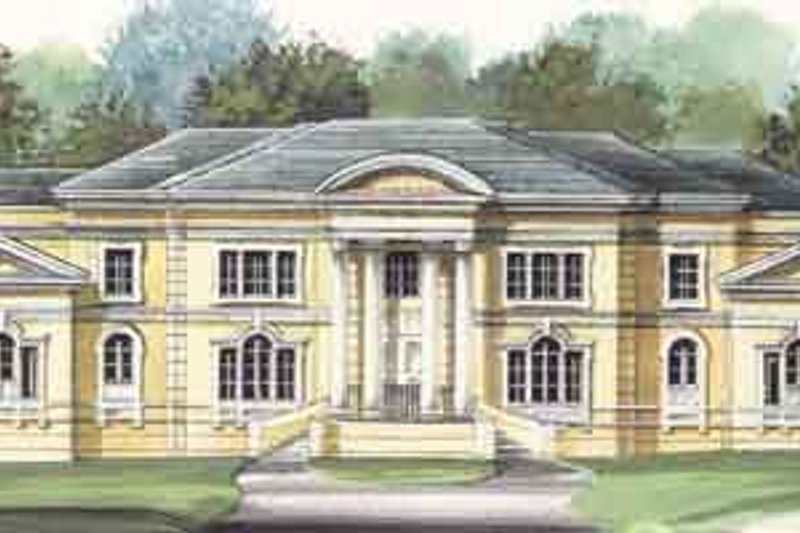 Classical Style House Plan - 4 Beds 5.5 Baths 6177 Sq/Ft Plan #119-165 Exterior - Front Elevation