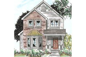 Traditional Exterior - Front Elevation Plan #20-1704
