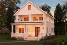 Craftsman Exterior - Rear Elevation Plan #888-10