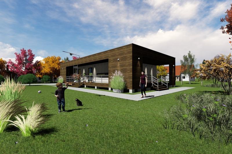 Modern Exterior - Front Elevation Plan #549-19
