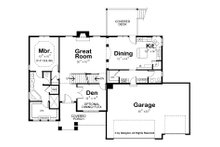 Modern Floor Plan - Main Floor Plan Plan #20-2268