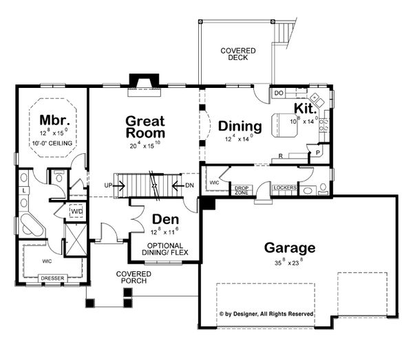 Modern Floor Plan - Main Floor Plan Plan #20-2268