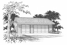 Traditional Exterior - Front Elevation Plan #22-413