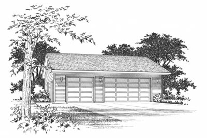 Traditional Style House Plan - 0 Beds 0 Baths 1008 Sq/Ft Plan #22-413 Exterior - Front Elevation