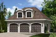 European Style House Plan - 0 Beds 0 Baths 483 Sq/Ft Plan #25-4751 Exterior - Front Elevation