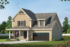 Country Exterior - Front Elevation Plan #20-1227